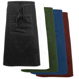 midi čierna zástera s vreckom